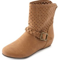 LASER CUT BRAIDED ANKLE BOOTIE