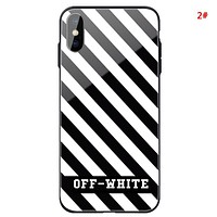 Off White New fashion letter arrow print couple protective cover phone case 2#