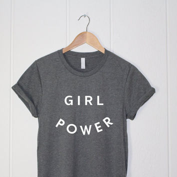 Feminism Shirt - Funny Shirt - Feminist Shirt - Girl Power Shirt - GRL PWR - Wonder Woman - Girl Power Tee - Tumblr Shirts - Workout Shirt