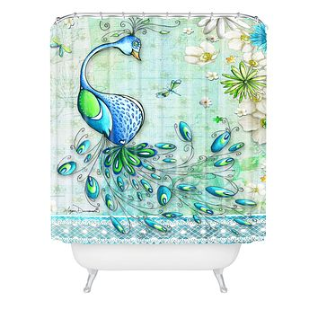 Madart Inc. Peacock Princess Shower Curtain