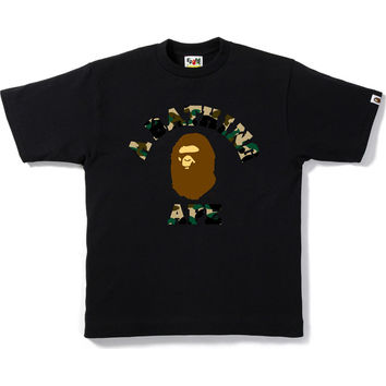 1ST CAMO COLLEGE COLOR APE HEAD TEE