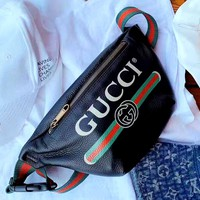 GUCCI Tide brand classic chest bag pocket bag shoulder bag