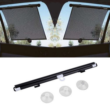 Black Auto Accessories Retractable Side Window Car Sun shade Curtain Automatic Sunscreen Roller Blinds Window Film Hot Selling