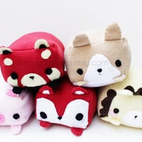 Cubed Animal Plush - Kawaii Plushie , Cute Stuffed Animal