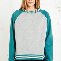 Sparkle & Fade Sporty Trim Sweatshirt in Grey - Urban Outfitters