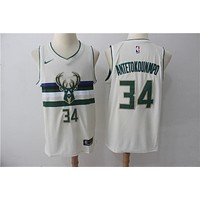 Milwaukee Bucks 34 Giannis Antetokounmpo City Edition Swingman Jersey