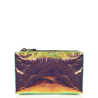 Iridescent Make-Up Bag - Gold