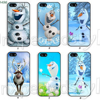 Disney frozen Phone Cases, iPhone 5 Case, iPhone 5S/5C Case, iPhone 4/4S Case, Samsung Galaxy S4 case, Galaxy S3 case olaf -400496
