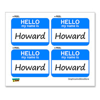 Howard Hello My Name Is - Sheet of 4 Stickers