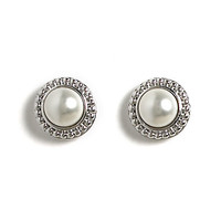 Jody Coyote Stud Earrings from the Perla Collection - Small Cabochon