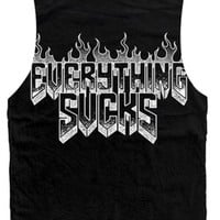 Women's Everything Sucks Tank Top - Black