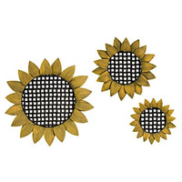 3 Wall Decorations - Sunflowers