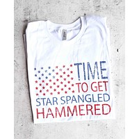 Distracted - Time to Get Star Spangled Hammered 4th of July Shirt