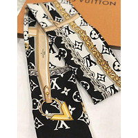 LV Louis Vuitton Trending Unisex Personality Monogram Silk Kerchief Cap Scarf Scarves Shawl I