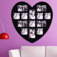 ADECO PF0304 13-Opening Black Wooden Wall Hanging Collage Photo Picture Frames - Holds 4x5 4x6 Inch Photos, Wall Art,Wall Hanging Collage,He