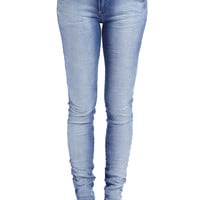 SKINNY JEANS WITH PINK SEAM DETAIL