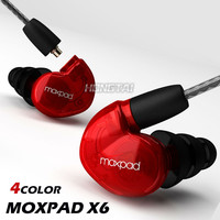 New Moxpad X6 In-ear sport Earphones with Mic for iPhone Samsung Mobile Cell Phones Replacement Cable+Noise Isolating Headphone