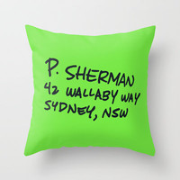 P. Sherman, 42 Wallaby Way Throw Pillow by Ashleigh | Society6