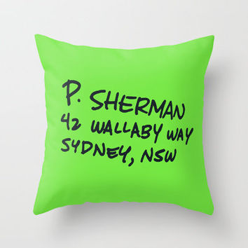 P. Sherman, 42 Wallaby Way Throw Pillow by Ashleigh   Society6