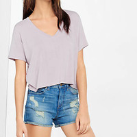 Express One Eleven V-neck Abbreviated Tee from EXPRESS
