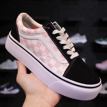 """VANS  Old Skool Classics """"Checkboard"""" Fashionable casual shoes"""