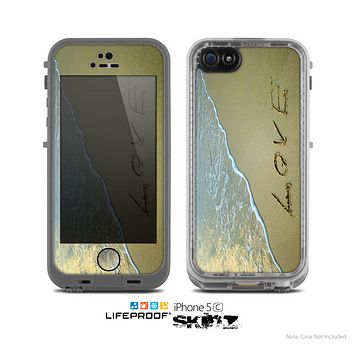 The Love Beach Sand Skin for the Apple iPhone 5c LifeProof Case
