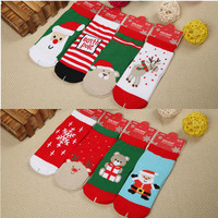 Christmas Theme Baby sock 2015 New Cotton Cute  slip-resistant floor thick warm socks cartoon