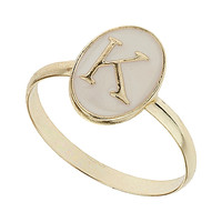 Enamel K Initial Ring - Jewelry - Accessories - Topshop USA