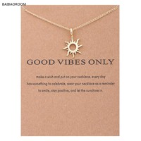 Good Vibes Only Sun Necklace