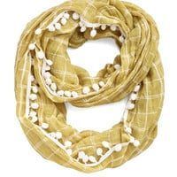 Pom It Up Circle Scarf in Mustard by ModCloth