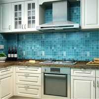 45x200 cm Mosaic Wallpaper Kitchen Oil Sticker Bathroom Tile Wall Stickers Waterproof