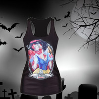 Zombie Princess  Racer Back Tank Top Snow White