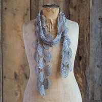 Scarves  &  Headbands:  Grey  Bohemian  Scarf/Belt/Headwrap  From  Natural  Life