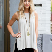 All Good Modal Tank - Grey