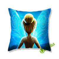 Tinkerbell Wings Square Pillow Cover