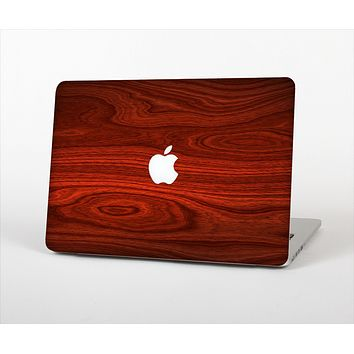 """The Rich Red Wood grain Skin Set for the Apple MacBook Pro 13"""" with Retina Display"""