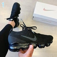 Nike Air VaporMax Flyknit 3.0 Fashion Women Men Breathable Sports Running Shoes Sneakers 1 Black