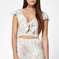 Kendall and Kylie Tie Front Cropped Top at PacSun.com