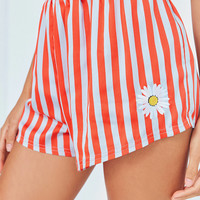 Out From Under Embroidered Satin Boxer Short | Urban Outfitters