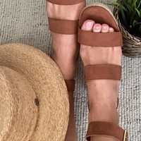 Moon Walk Camel Espadrille Sandals