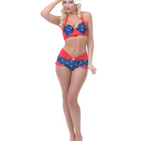 Navy & Red Life Rings Yacht Bottom