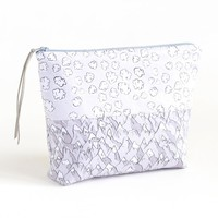 Forever Mountains and Popcorn Clouds Boxy Zipper Pouch | Organic Cotton Sateen