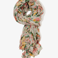 Floral Print Scarf | FOREVER21 - 2020976671