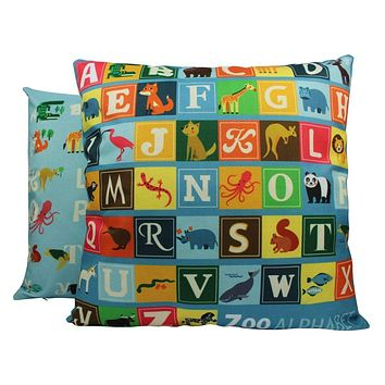 Alphabet | ABC | Alphabet Blocks | Baby Nursery Decor | Pillow Cover | Home Decor | Throw Pillows | Happy Birthday | Kids Room Decor