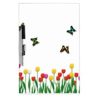 Butterfly and Tulips