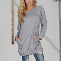 All Is Well Tunic - Heather Grey