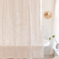 Margot Tufted Floral Shower Curtain | Urban Outfitters