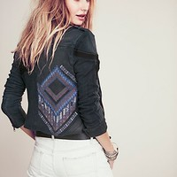 Free People Womens We The Free Moto Patch Jacket