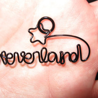 Wire Wrapped NEVERLAND made to order Pendant