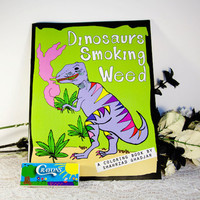 Dinosaurs Smoking Weed Coloring Book